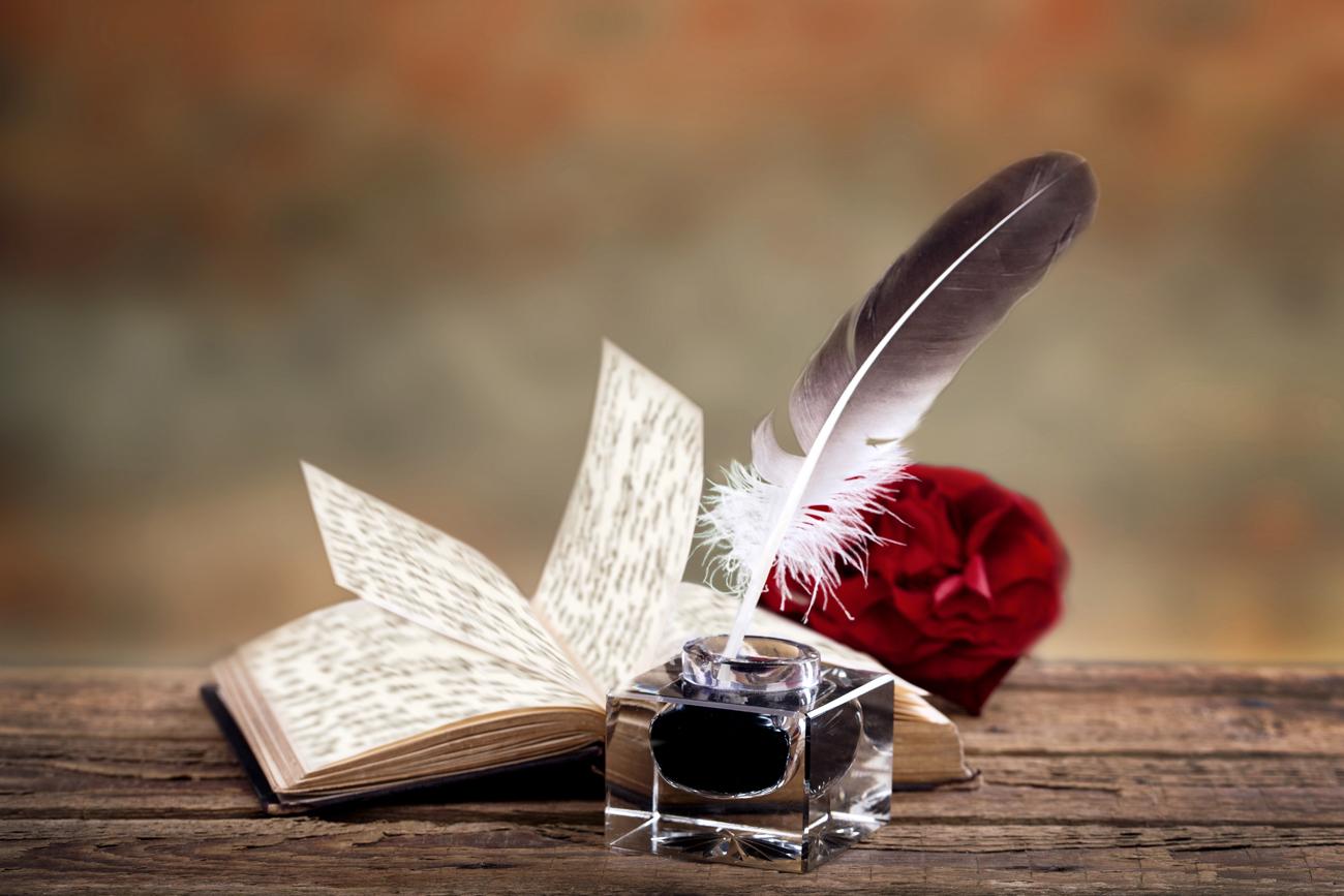 картинки поэт и перо предлагает