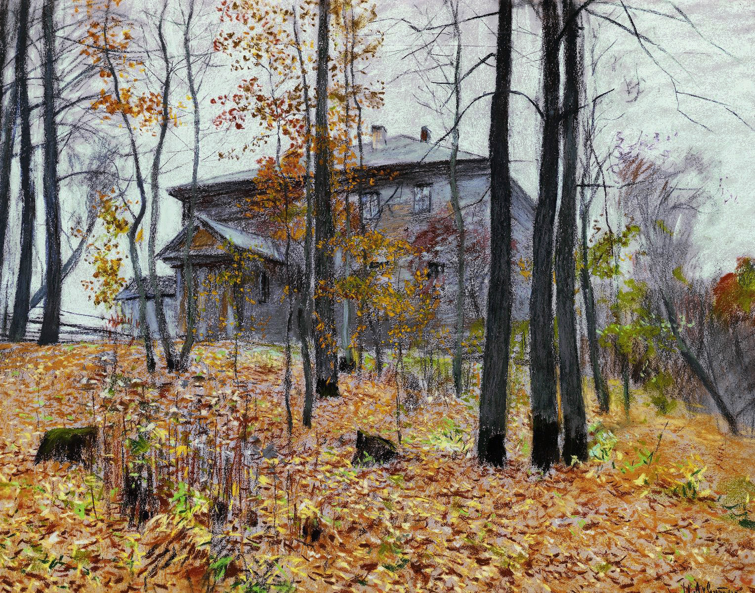 Поздняя осень картина левитана
