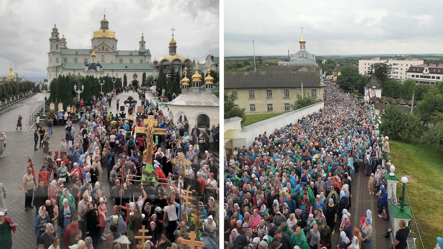 В Почаев пришел многотысячный крестный ход из Каменец-Подольского