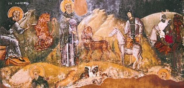 Фреска церкви Святого Николая Орфаноса