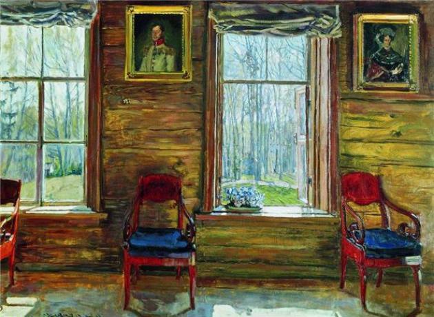 Жуковский Станислав Юлианович (1875-1944) Окно с фиалками