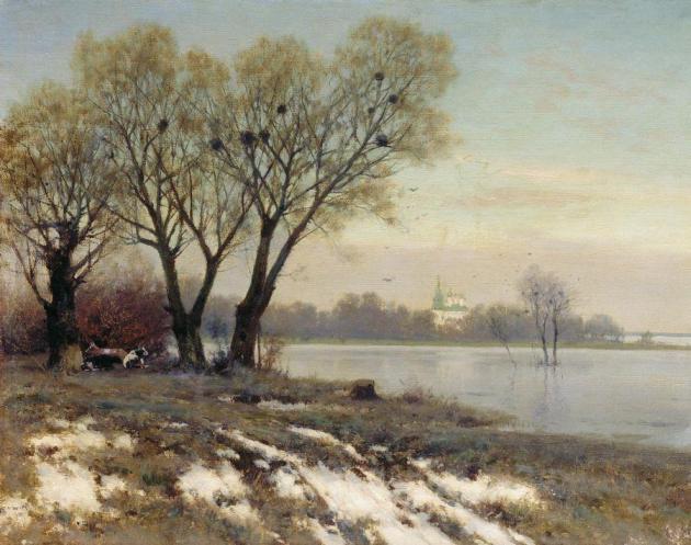 Крыжицкий Константин Яковлевич (1858-1911). Ранняя весна. 1904