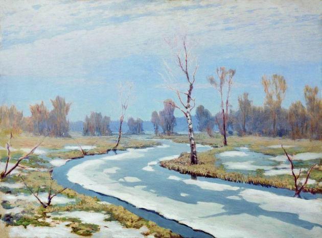 Куинджи Архип Иваночив (1842-1910). Ранняя весна. 1890-1895