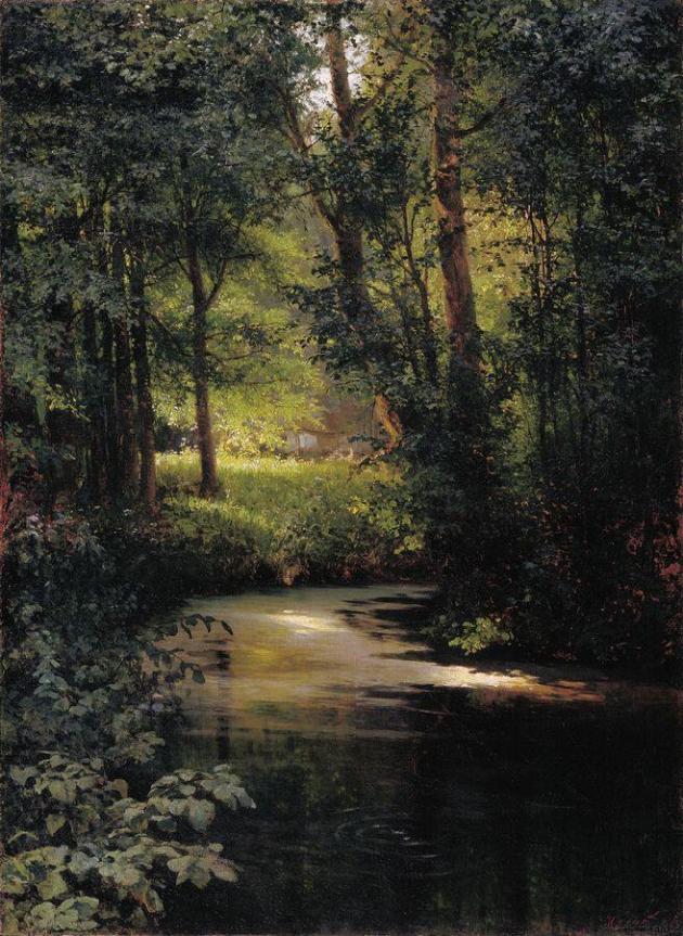 Мясоедов Григорий Григорьевич. Весной (Лесной ручей близ Полтавы). 1890