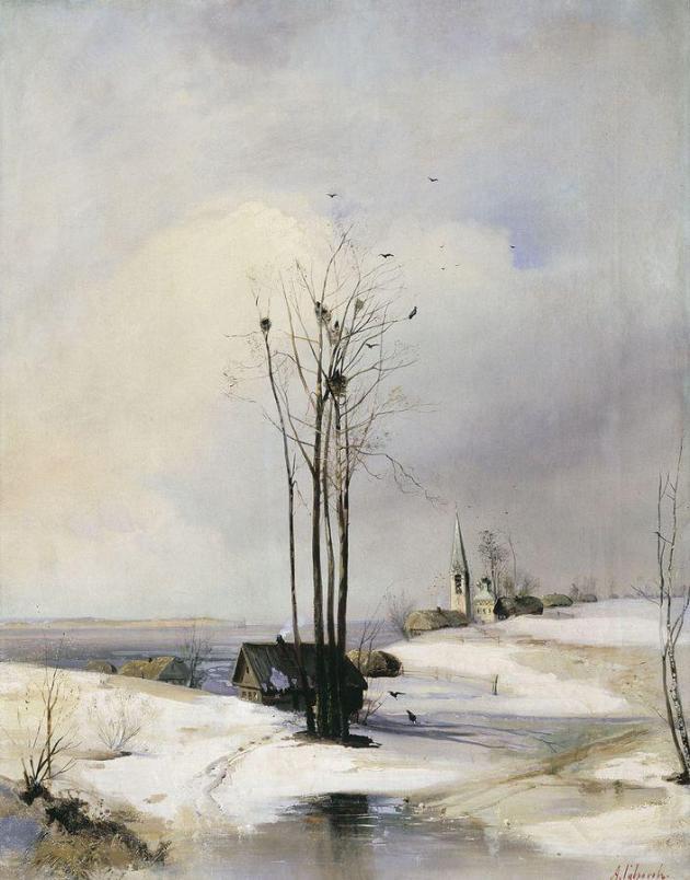 Саврасов Алексей Кондратьевич (1830-1897). Ранняя весна. Оттепель. 1880-е