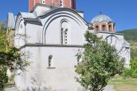 Два храма монастыря Студеница - вид с северо-запада