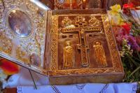 Ковчег с частицей Животворящего Креста Господня. Монастырь Ксиропотам