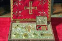 Ковчег с частицей Животворящего Креста Господня с одним из Даров волхвов и мощами святых.. Монастырь Святого Павла