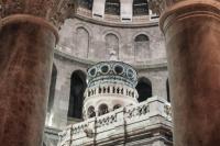 Кувуклия Гроба Господня после реставрации и освящения, которое совершилось в марте 2017 года