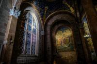 Мозаика «Поцелуй Иуды» в католическом храме «Всех Наций» в Гефсимании, на месте моления Спасителя о Чаше