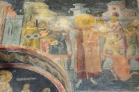 Поругание Христа - фреска в экзонартексе