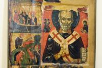 Святитель Николай с житием. Середина XIV в. Охрид