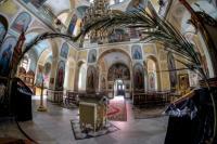 Вербное воскресенье в русской церкви апостола Петра и праведной Тавифы в Тель-Авив-Яффо
