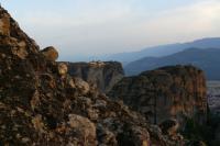 Вид на монастырь Святой Троицы с обзорной площадки Панорама на закате