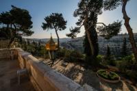 Вид от русского монастыря святой Марии Магдалины в Гефсимании на восточную часть Храмовой горы и на Кедронскую долину
