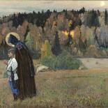 Михаил Нестеров. «Видение отроку Варфоломею. Часть II», 1917