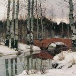 Бертгольц Ричард Александрович (1865-1920). Оттепель в Гатчине. 1897